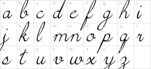 cursive handwriting 3